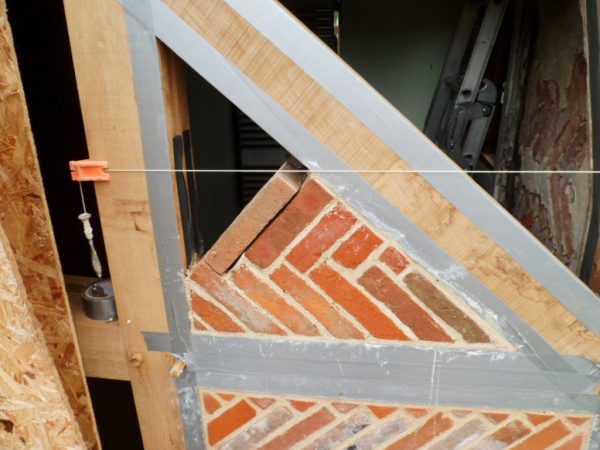 Timber Frame Farmhouse With Herringbone Infill Panels