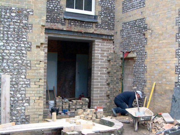 Buff brick flint repairs