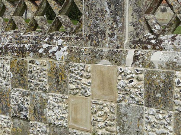 Flint stone balustrade repairs