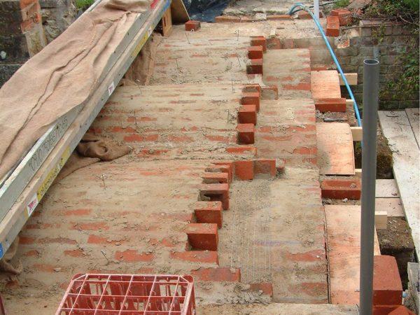 Brick bridge progress