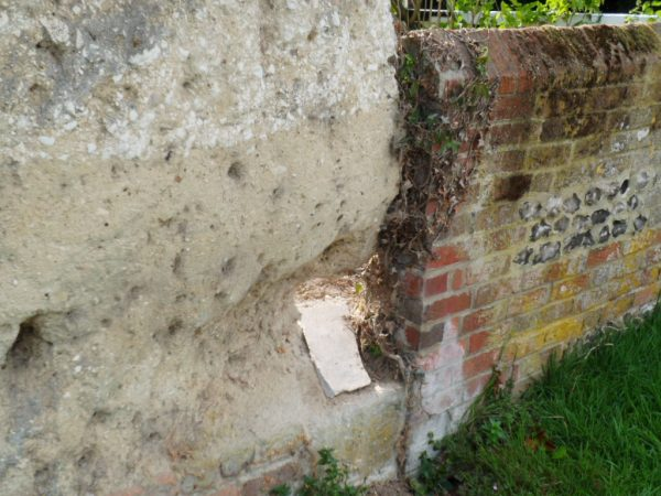 Chalk wall hampshire before