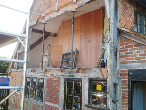 Timber frame farmhouse repair Hampshire